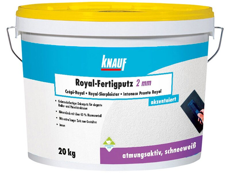 knauf royal fertigputz reibeputz 2 mm k rnung 20 kg kaufen bei obi. Black Bedroom Furniture Sets. Home Design Ideas