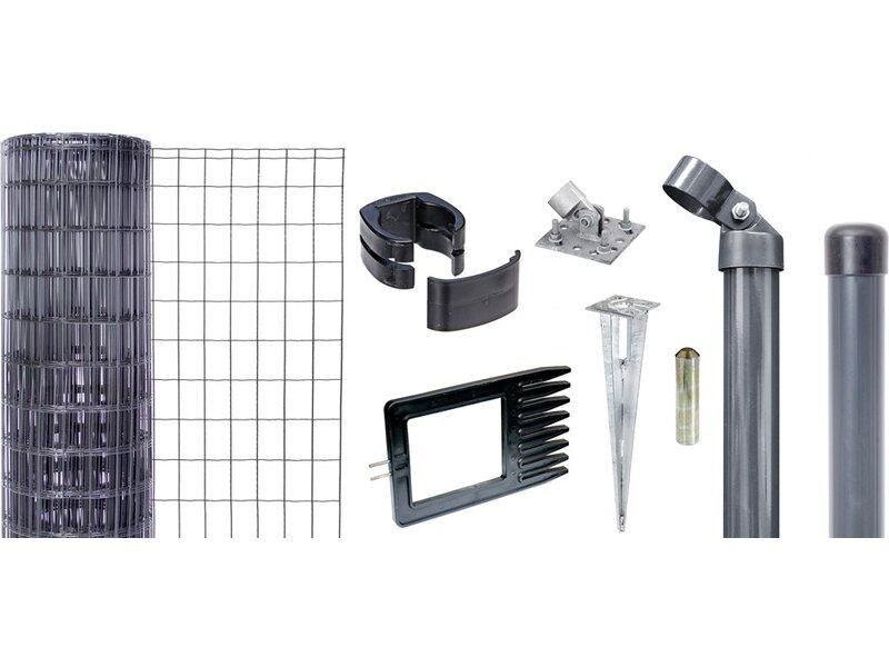 metallzaun set fix clip pro anthrazit 153 cm x cm kaufen bei obi. Black Bedroom Furniture Sets. Home Design Ideas
