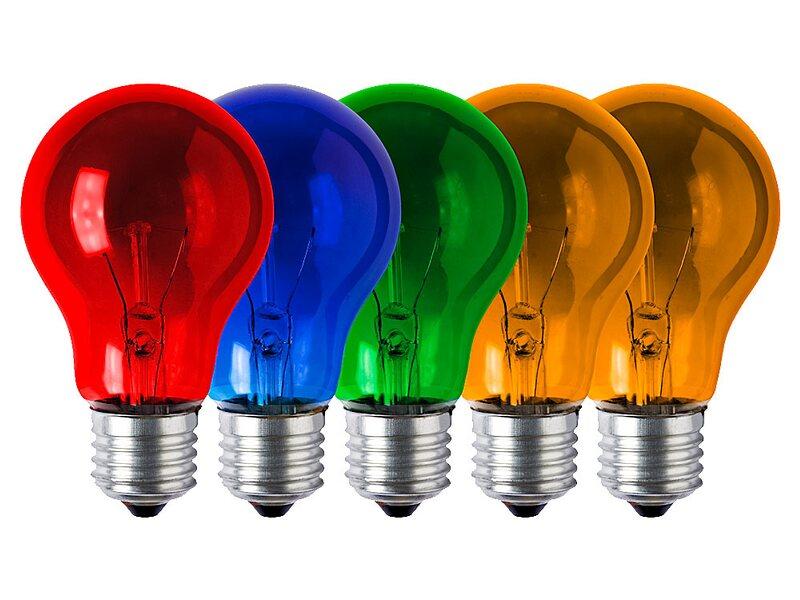 Glühlampe Farbig Sortiert 5er Pack E27 / 25 W Kaufen Bei OBI