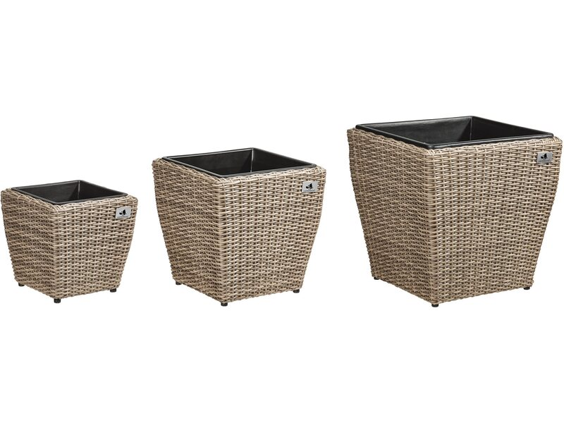 gartenfreude pflanzk bel polyrattan naturfarben gr e l. Black Bedroom Furniture Sets. Home Design Ideas