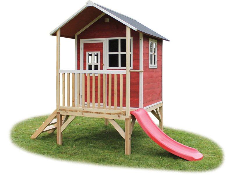 exit stelzen spielhaus loft 300 rot mit rutsche kaufen bei obi. Black Bedroom Furniture Sets. Home Design Ideas