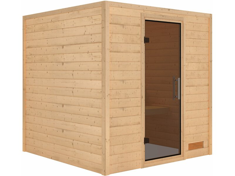 karibu sauna nora mit ganzglast r ohne kranz graphit kaufen bei obi. Black Bedroom Furniture Sets. Home Design Ideas