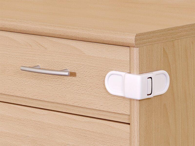 Schrank- und Schubladensicherung zum Kleben Weiß kaufen bei OBI