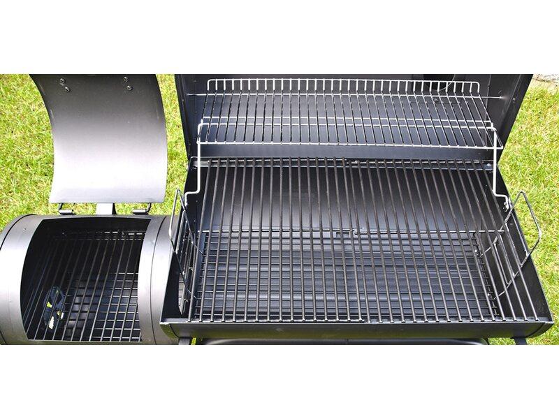 Tepro Holzkohlegrill Obi : El fuego holzkohlegrill smoker dakota mit zwei grillflächen kaufen