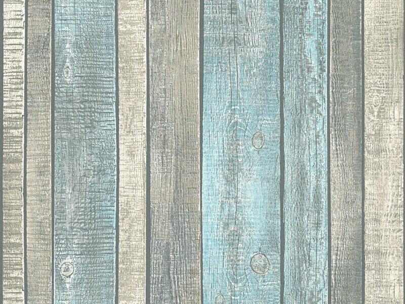 A.S. Création Vliestapete Best of Wood´n Stone Holzbretter Taupe-Beige-Blau