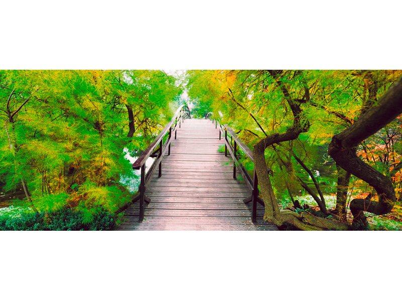 Eurographics deco glass bridge to greenery 50 cm x 125 cm for Deco glass bilder kuche