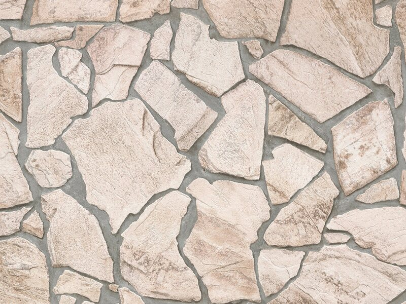 Finest Selection Vliestapete Steinmaueroptik Woodn Stone Beige Braun