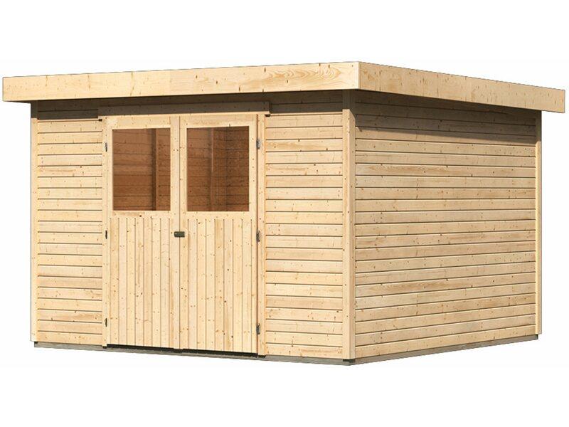 karibu modul holz gartenhaus raala 4 t r classic natur bxt 302x217cm kaufen bei obi. Black Bedroom Furniture Sets. Home Design Ideas