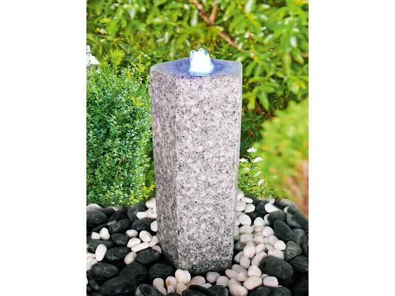 heissner steinbrunnen set quintus mit led aus granit kaufen bei obi. Black Bedroom Furniture Sets. Home Design Ideas