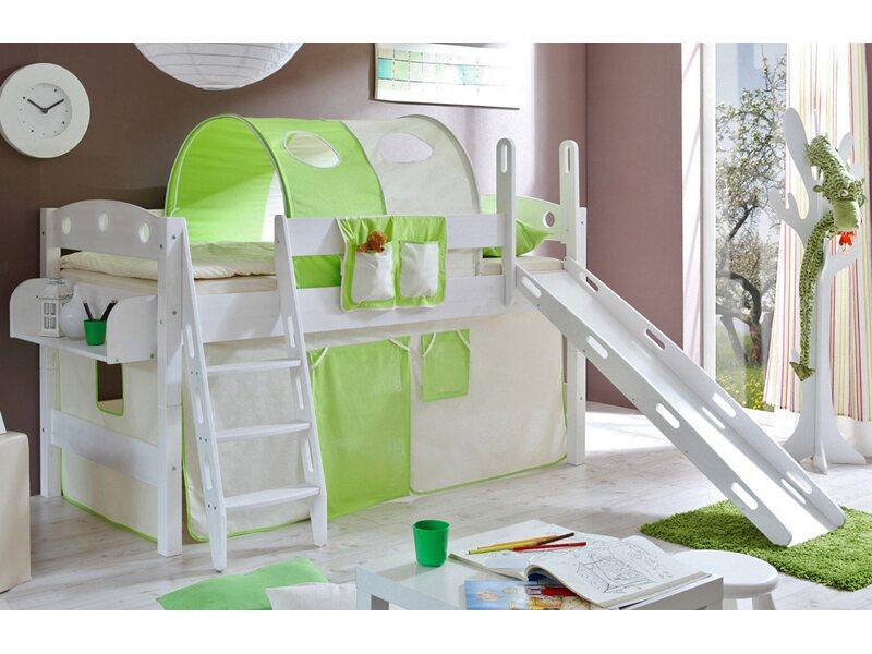 Etagenbett Obi : Hochbett kenny kiefer weiß beige grün kaufen bei obi