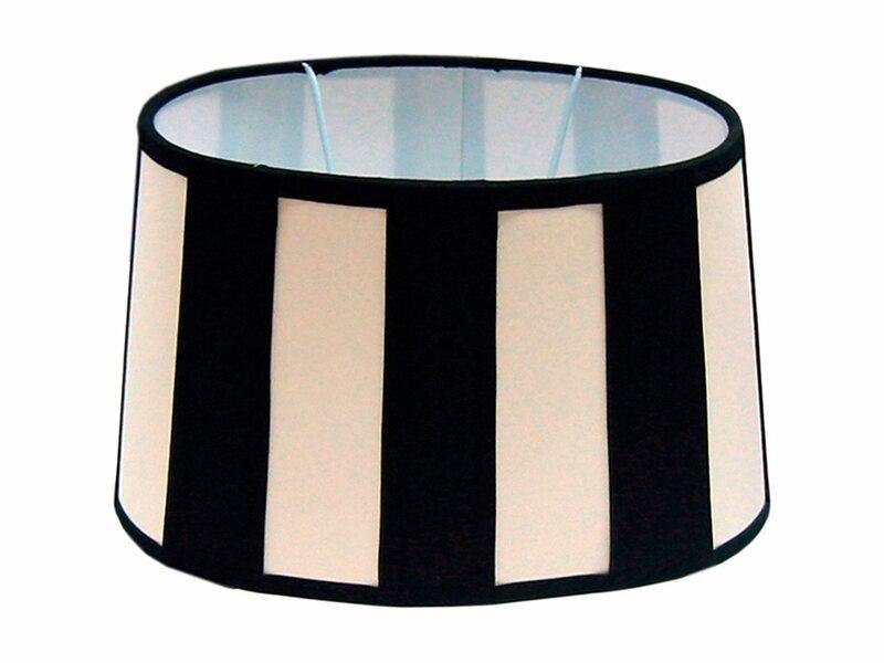 lampenschirm oval gestreift lampenschirm oval ebay. Black Bedroom Furniture Sets. Home Design Ideas