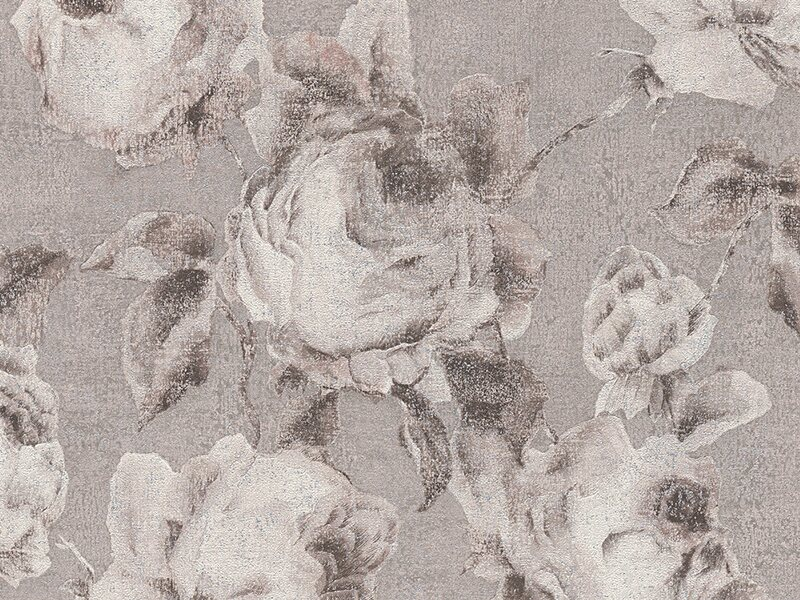 a s creation vliestapete bohemian burlesque rosen hellgrau kaufen bei obi. Black Bedroom Furniture Sets. Home Design Ideas