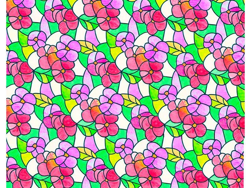 D c fix klebefolie lisboa summer rot transparent 90 cm x for Klebefolie 90 cm