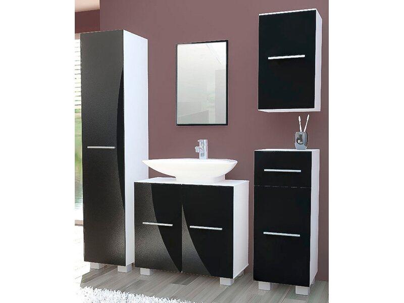 vcm stand badm bel set carlos wei schwarz 5 teilig kaufen. Black Bedroom Furniture Sets. Home Design Ideas