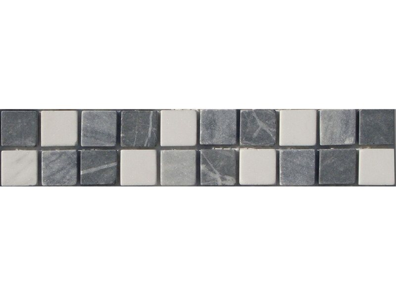 Bordüre Kronos Grau Weiß Mix 5 cm x 25 cm