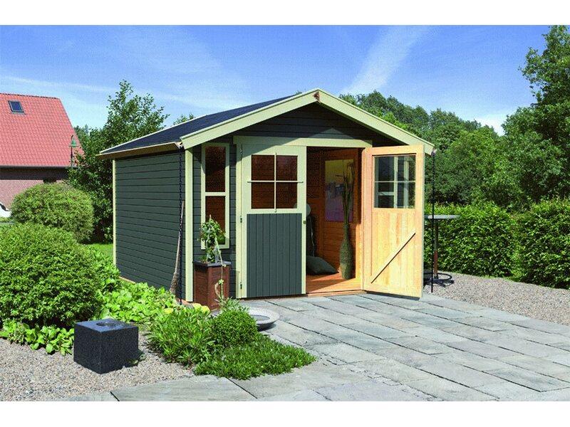 holz gartenhaus kalmar 6 terragrau 302 cm x 217 cm kaufen bei obi. Black Bedroom Furniture Sets. Home Design Ideas