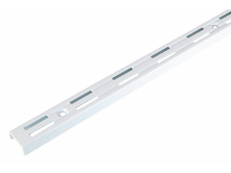 Wandregal metallschiene  Wandschiene Weiß 50 cm kaufen bei OBI