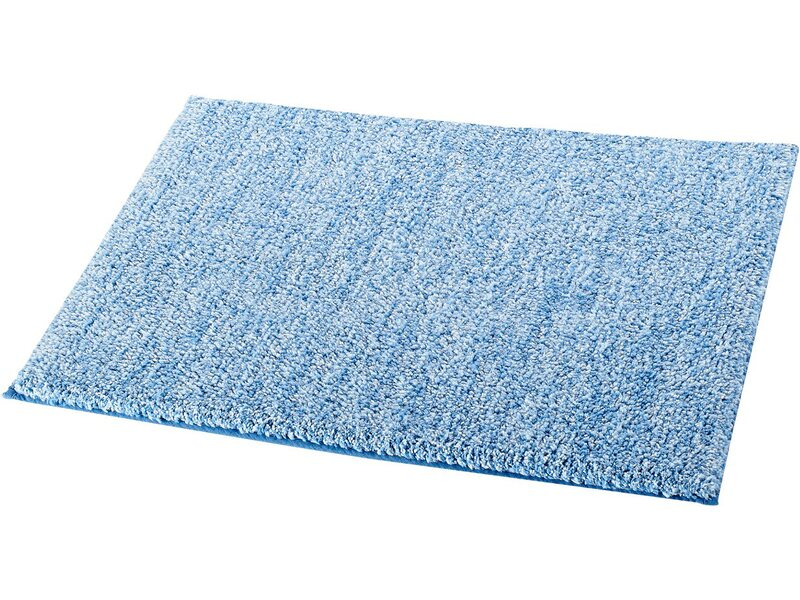 ridder wc vorleger ohne ausschnitt melange hellblau 55 cm x 50 cm kaufen bei obi. Black Bedroom Furniture Sets. Home Design Ideas