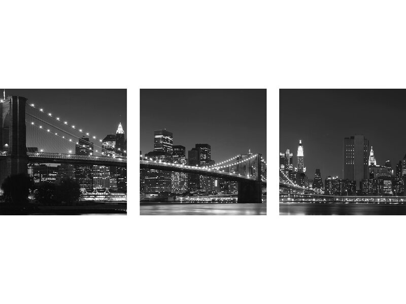 eurographics glasbild 3 teilig manhattan 30 cm x 90 cm kaufen bei obi. Black Bedroom Furniture Sets. Home Design Ideas