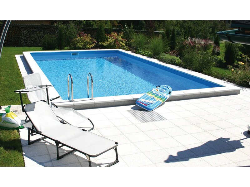 Summer fun styropor pool set london einbaubecken 800 cm x for Obi pool set