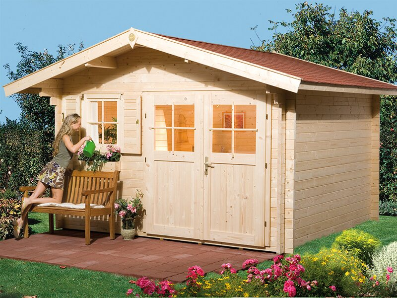 Weka Holz Gartenhaus Verona B Bxt 340 Cm X 300 Cm Kaufen Bei Obi