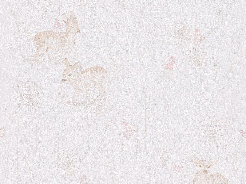 a s creation papiertapete lovely friends natur wei. Black Bedroom Furniture Sets. Home Design Ideas