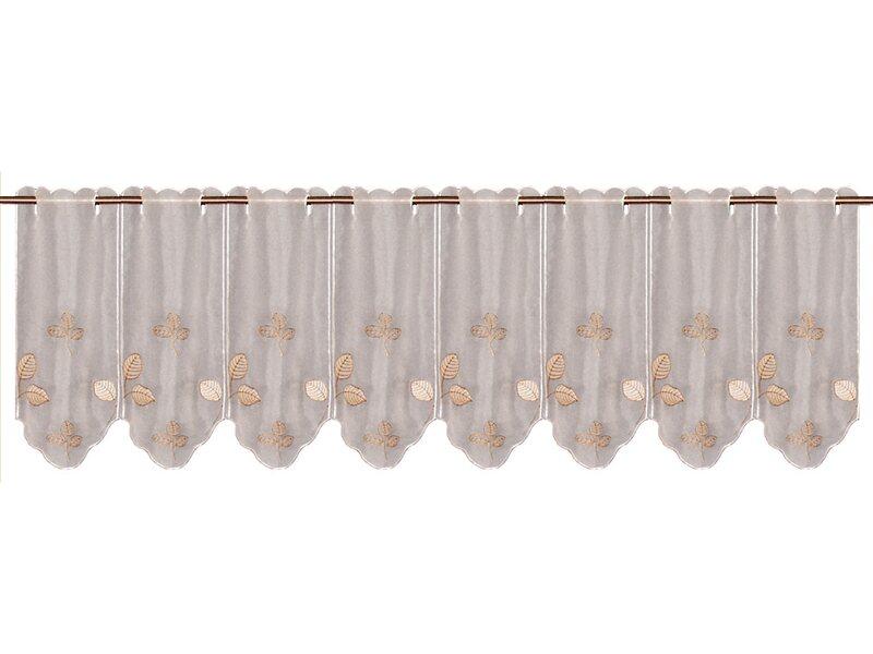 bistrogardine bl tter wei 45 cm x 155 cm kaufen bei obi. Black Bedroom Furniture Sets. Home Design Ideas