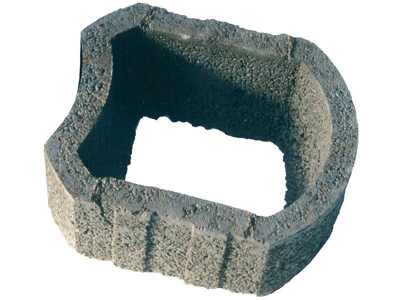 Korbflor grau gro 50 cm x 43 cm x 25 cm kaufen bei obi for Planschbecken rechteckig obi