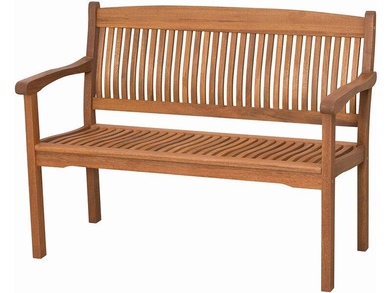 Gartenbank Sitzbank Parkbank Bank 2-Sitzer Balkon Gartenmöbel 122x51x73 cm Holz
