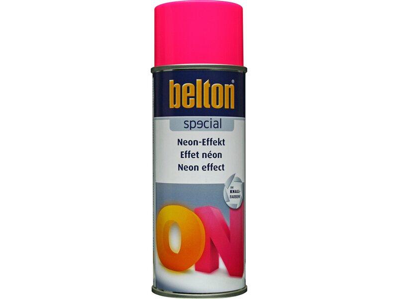 Holzlack Farben.Belton Special Neon Effekt Spray Pink Seidenmatt 400 Ml