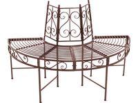 baumbank h lfte aus metall 3 sitzer rost kaufen bei obi. Black Bedroom Furniture Sets. Home Design Ideas