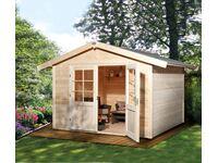 holz gartenhaus neckar 1 im obi online. Black Bedroom Furniture Sets. Home Design Ideas