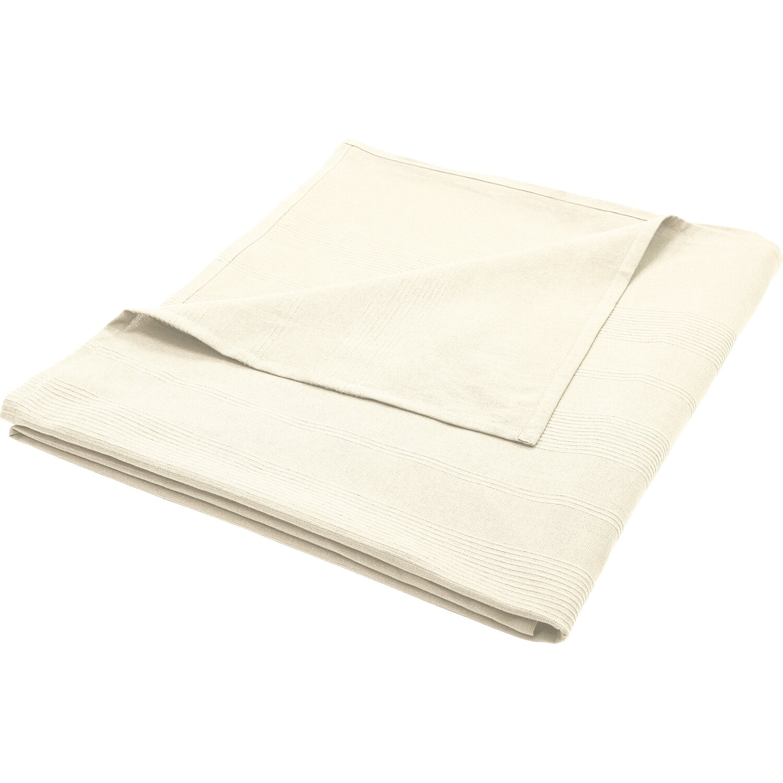 Sonstige Baumwolldecke 150 cm x 250 cm Weiß