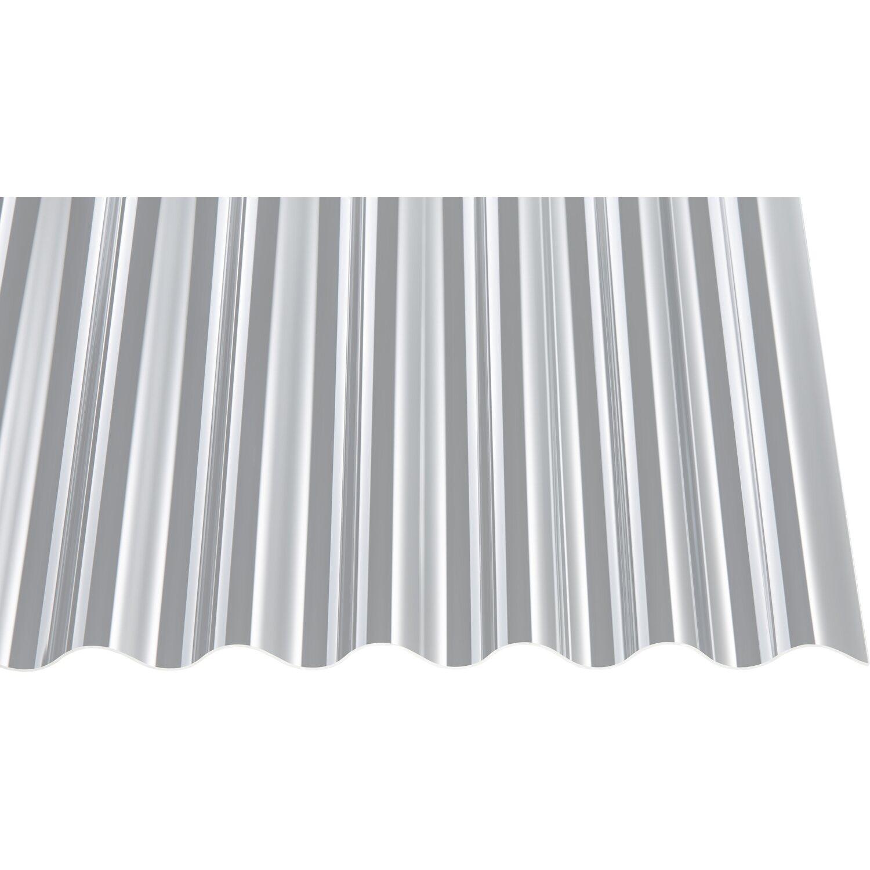 Gutta Acryl-Profilplatte 1,5 mm sz Sinus 76/18 Transparent 2000 mm x 1045 mm