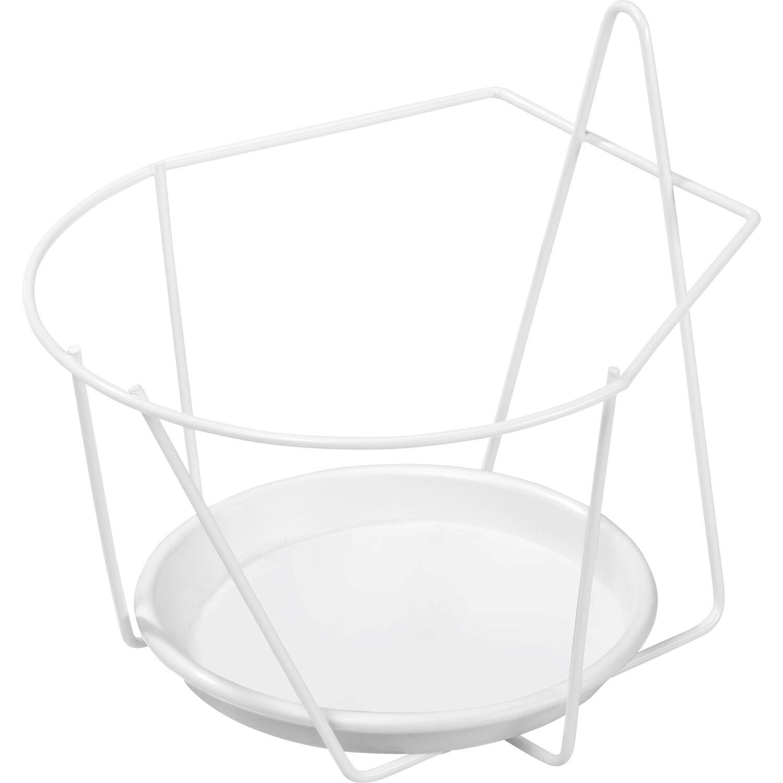 OBI Mauer-Topfhalter Weiß Ø 18 cm