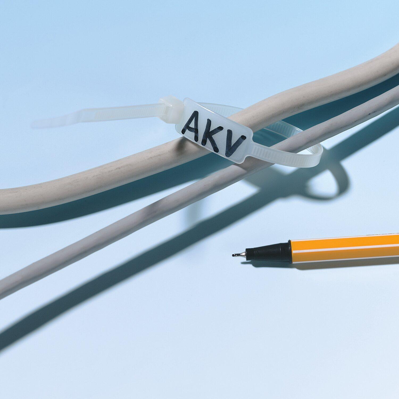 obi kabelbinder 205 mm mit beschriftungsfeld 100 st ck kaufen bei obi. Black Bedroom Furniture Sets. Home Design Ideas