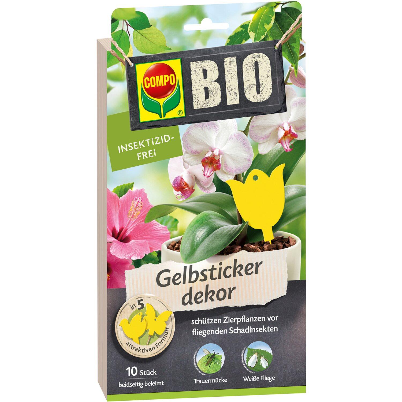 Compo  Bio Gelbsticker dekor 10 Stk.