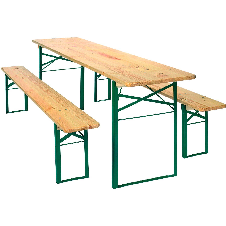 Gut bekannt Bierzeltgarnitur 3-teilig mit Tisch 70 cm x 220 cm und 2 Bänken FR46