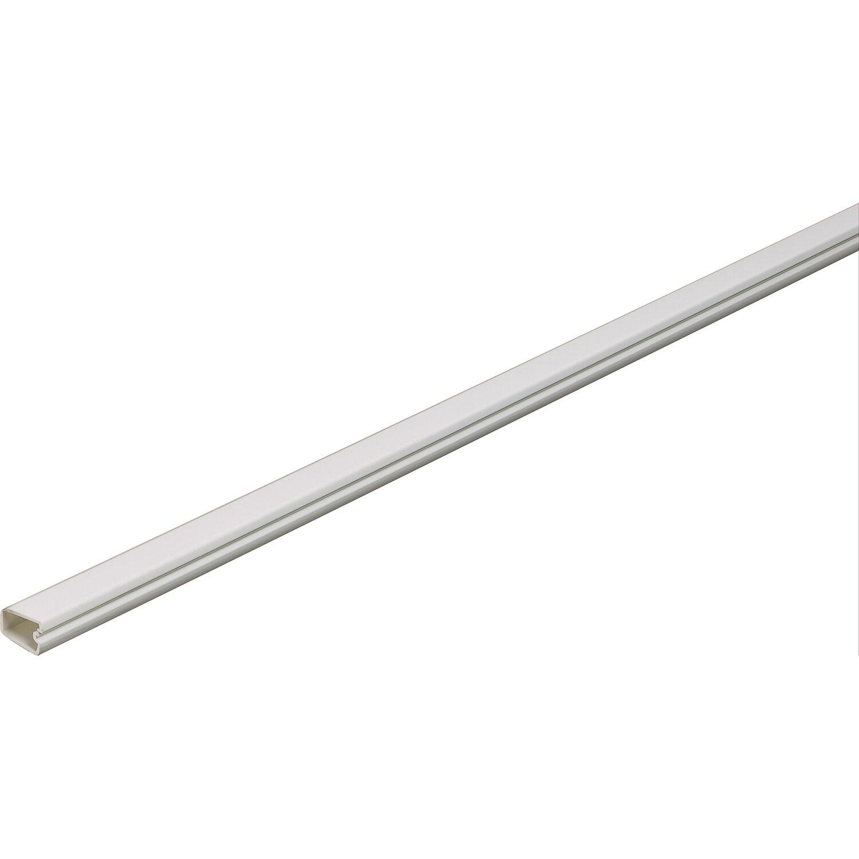 Mini-Kabelkanal Selbstklebend mit Deckel 12 mm x 7 mm Weiß Länge 2 m ...