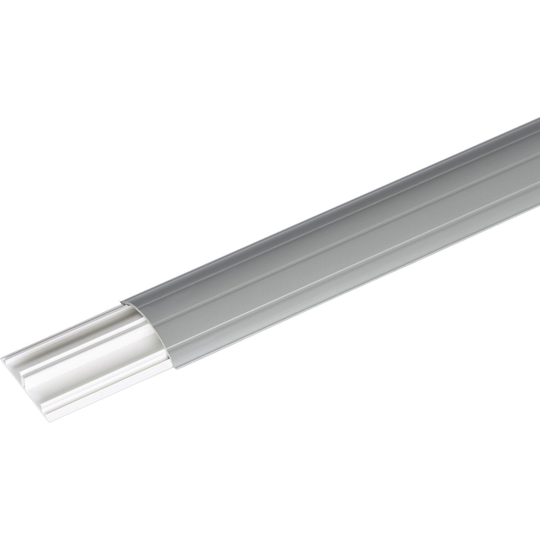 Fußbodenkanal 50 mm x 12 mm Grau Länge 2 m
