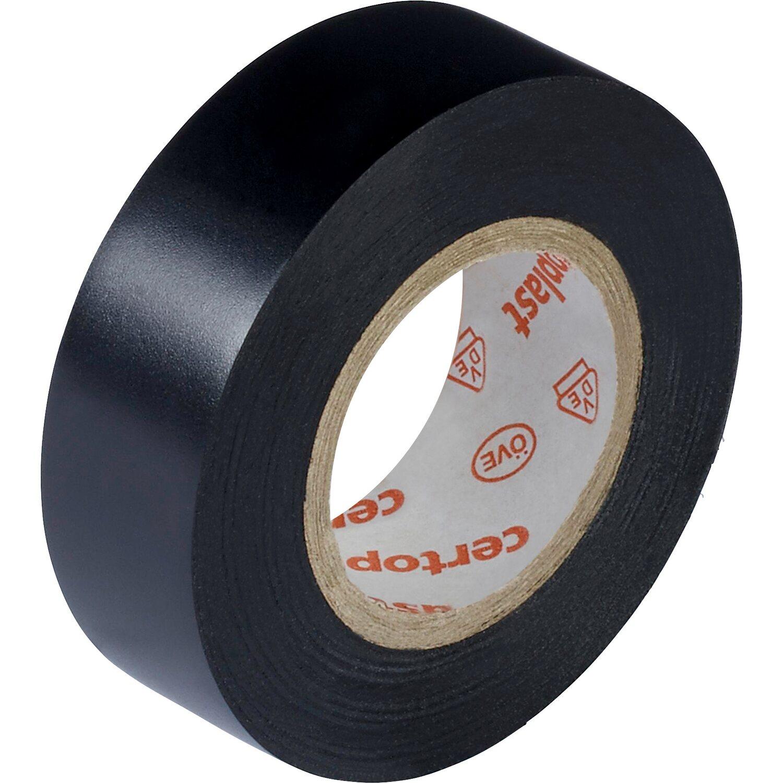 Isolierband 15 mm x 10 m schwarz