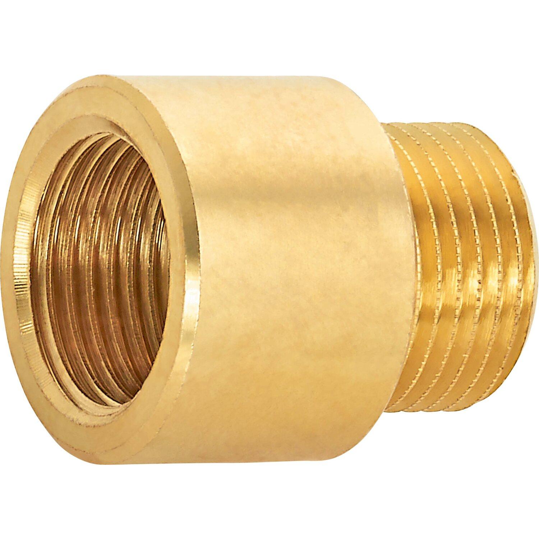 OBI Hahnverlängerung 14,9 mm (Rp 3/8) x 16,7 mm (R 3/8) Messing 15 mm