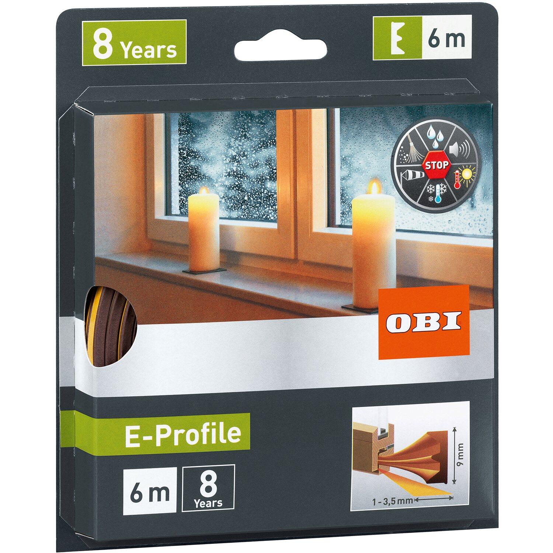 Gut OBI Türdichtung / Fensterdichtung aus Gummi E-Profile Braun kaufen  RX56