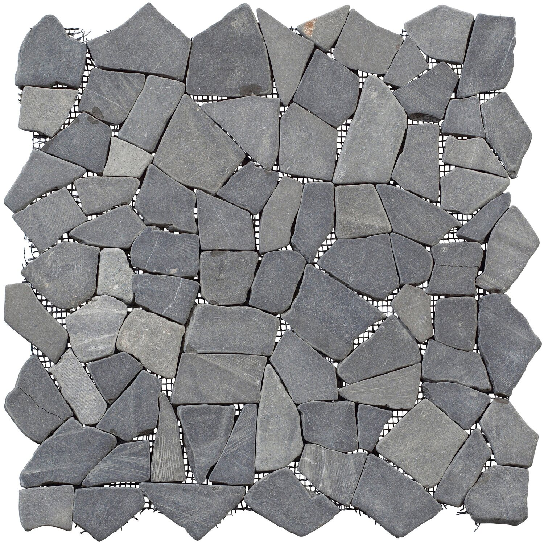 Bruchmosaikmatte Schwarz-Braun 30,5 cm x 30,5 cm