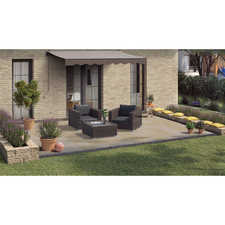Terrassenplatte Sandstein Gold-Braun 40 cm x 40 cm x 3 cm kaufen bei OBI