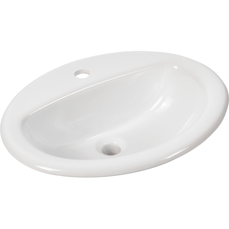 AquaSu  aVondo Einbau-Waschbecken 51,6 cm Weiß