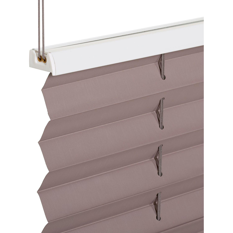 obi verspanntes thermo plissee tona 45 cm x 130 cm grau. Black Bedroom Furniture Sets. Home Design Ideas