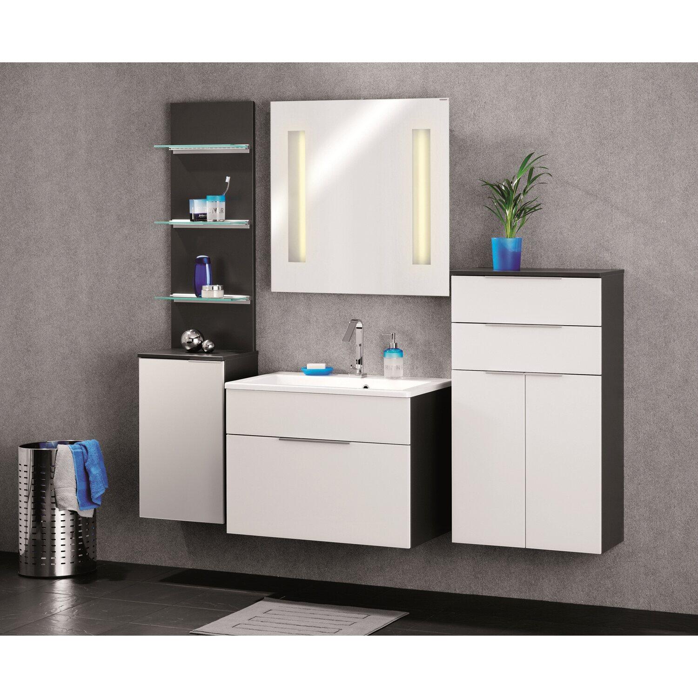fackelmann waschbeckenunterschrank 1 schublade kara anthrazit wei kaufen bei obi. Black Bedroom Furniture Sets. Home Design Ideas