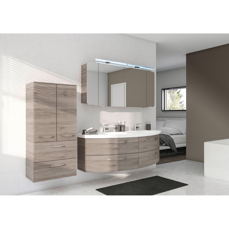 pelipal badm bel set 161 cm quantum 01 sanremo eiche eek a a kaufen bei obi. Black Bedroom Furniture Sets. Home Design Ideas