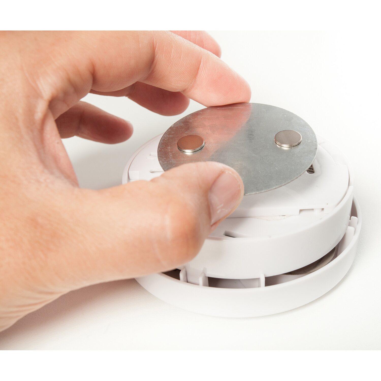 Magnetolink Befestigung f/ür Rauchmelder ohne bohren und schrauben